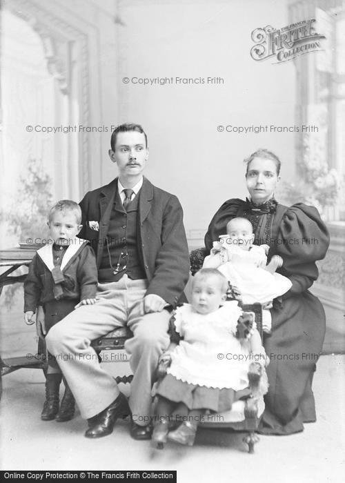 Photo of Portraiture, Mr Belber & Family, Market Street Yeovil 1896