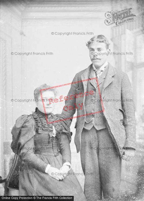 Photo of Portraiture, Mr & Mrs Ostler, East Coker 1895