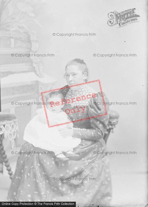 Photo of Portraiture, Mrs Cox And Baby, Semington 1894