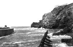 Portreath, Headland And Pier 1898