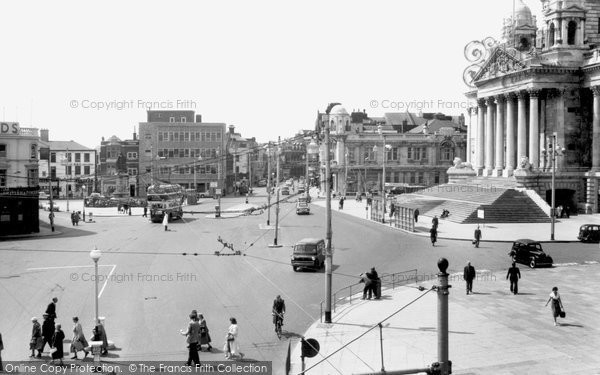 Photo of Portsmouth, Guildhall Square c1960, ref. P100011