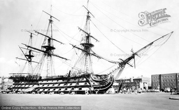 Photo of Portsmouth, HMS Victory c.1960