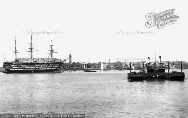Portsmouth, the Floating Bridge, crossing to Gosport 1898