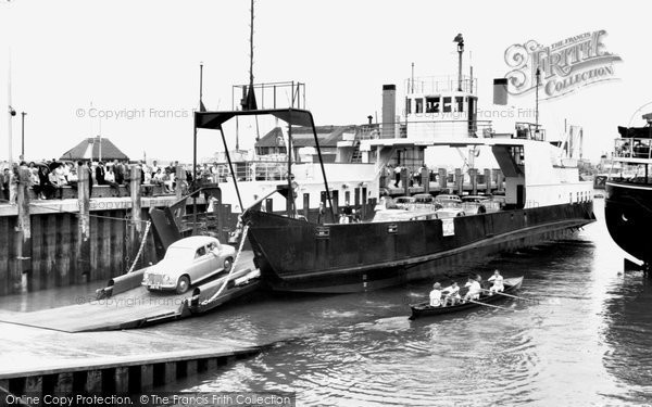 Portsmouth, the Isle of Wight Ferry c1962
