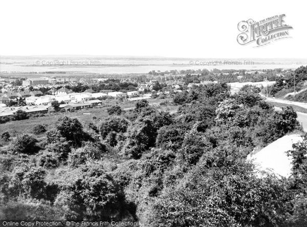 Portsmouth, the view from Portsdown Hill c1955