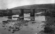 Postbridge, the Clapper Bridge 1931