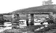 Postbridge, the Clapper Bridge 1907
