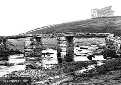 Postbridge, The Clapper Bridge c.1869