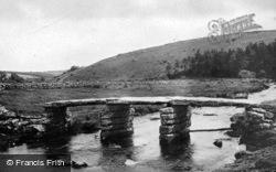The Clapper Bridge c.1930, Postbridge