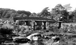 Postbridge, The Clapper Bridge c.1955