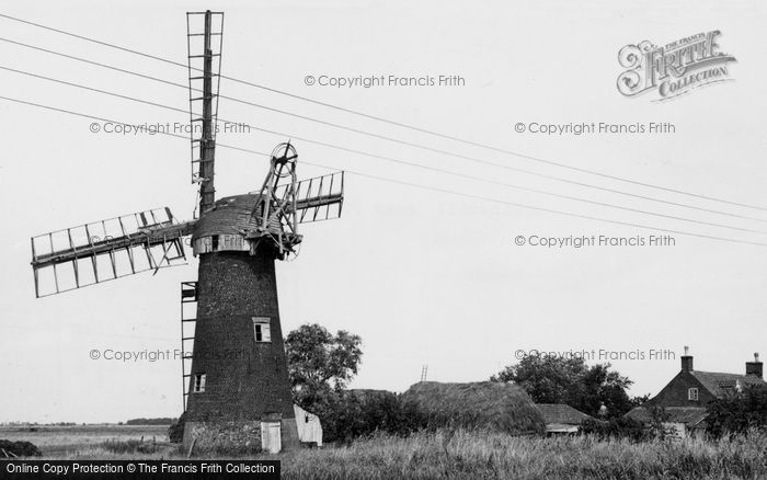 ,Potter Heigham, a Windmill c19600, Norfolk,