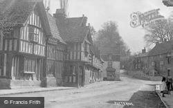 Porch House And High Street c.1900, Potterne