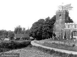 Potton, St Mary's Church And School c.1955