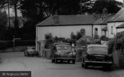 Cars In The Village c.1960, Poughill