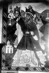 Fresco In St Olaf's Church 1900, Poughill
