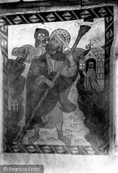 Fresco In St Olaf's Church 1906, Poughill