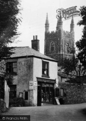 Post Office And Church 1938, Poughill