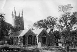 St Olaf's Church 1890, Poughill