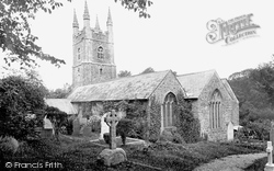 St Olaf's Church 1920, Poughill