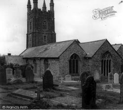 St Olaf's Church c.1960, Poughill