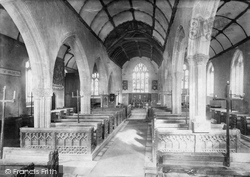 St Olaf's Church, Interior 1890, Poughill