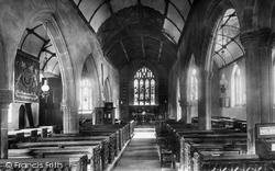 St Olaf's Church, Interior 1900, Poughill