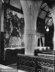 St Olaf's Church Interior c.1930, Poughill