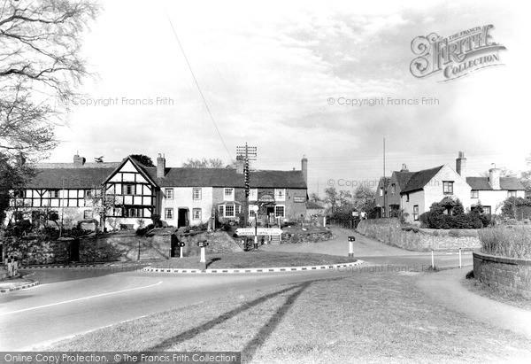 Photo of Powick, The Roundabout c.1955