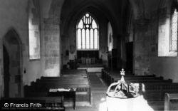 Poynings, Holy Trinity Church Interior c.1960