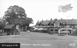 Poynton, Fountain Square c.1965