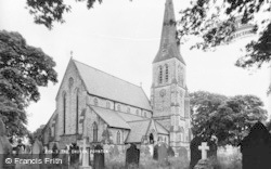 Poynton, St George's Church c.1955