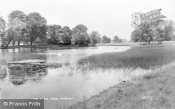Poynton, The Park c.1955