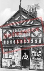 Prescot, The Old Barbers Shop, Eccleston Street c.1900