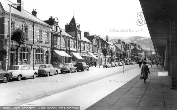 Photo of prestatyn high street c 1965