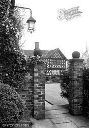 Prestbury, A Glimpse Of Normans Hall c.1950