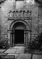 Prestbury, Chapel, Norman Doorway 1953