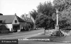Memorial And High Street c.1965, Prestbury
