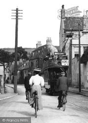 Prestbury, Tram And Cyclists 1907