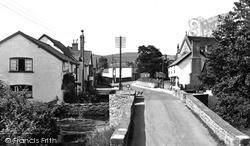 Presteigne, Broad Street And Lugg Bridge c.1955