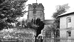 St Andrew's Church From Broad Street c.1960, Presteigne