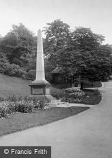 Preston, Avenham Park, Boer War Memorial 1925