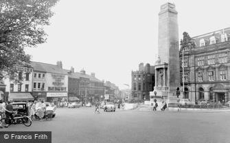 Preston, Friargate and the War Memorial c1960