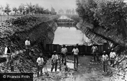 Prickwillow, Cleaning A Drainage Channel In The Fens c.1895