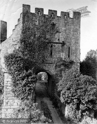 Prudhoe, Entrance To The Castle c.1955