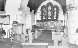 Prudhoe, Parish Church Interior c.1955