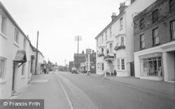 Pulborough, Arun Hotel And Main Road 1957