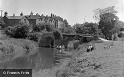 Fishing By The Old Bridge c.1950, Pulborough
