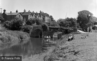 Pulborough, Fishing by the Old Bridge c1950