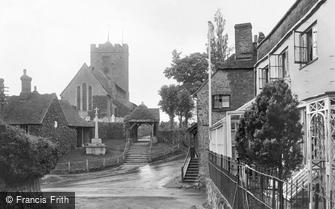Pulborough, St Mary's Church and War Memorial 1921