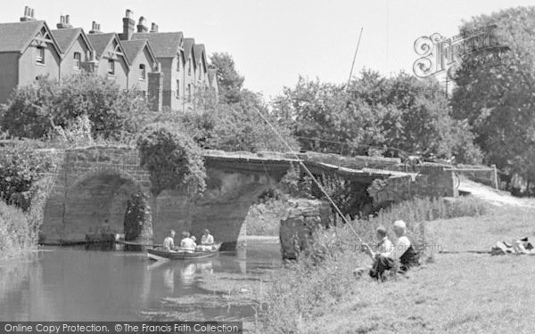 Pulborough, The River Arun, A Leisurely Afternoon c.1950